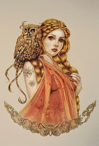 Blodeuwedd diosa