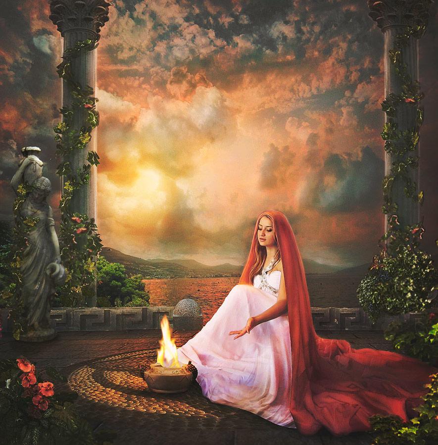 Diosa griega del hogar