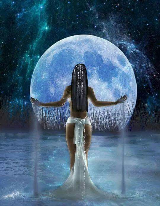 Diosas africanas de la luna
