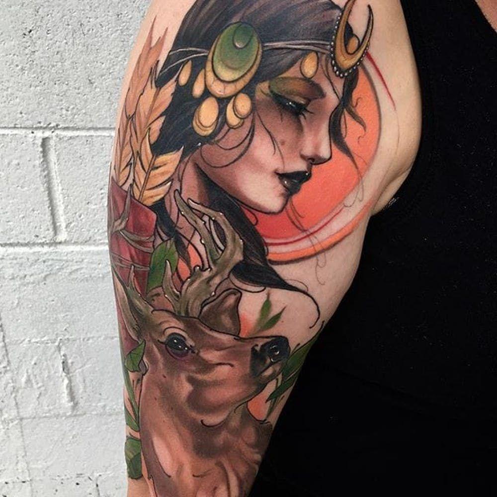 Tatuajes de Diosas griegas