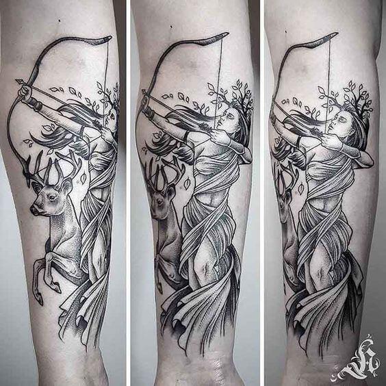 Tatuaje de Artemisa