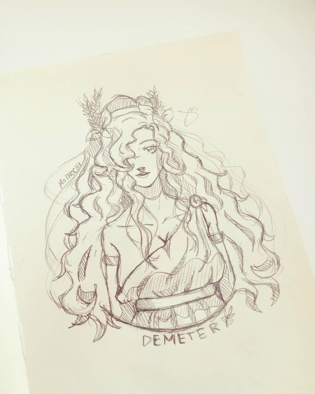 boceto tatuaje demeter