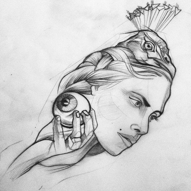 boceto tatuaje hera