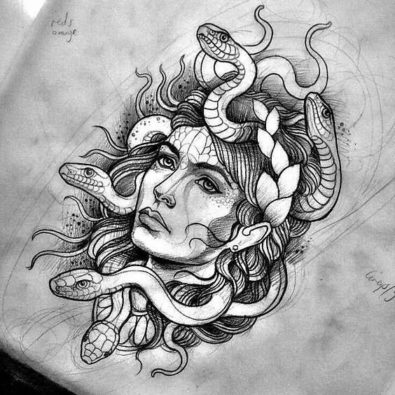 dibujo medusa