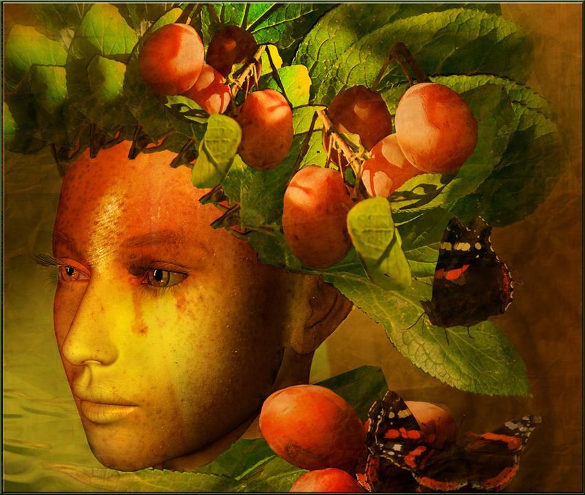 Diosa romana de las frutas